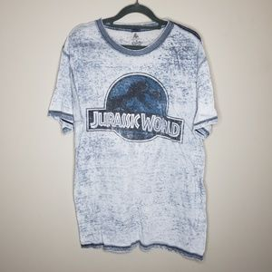 Jurassic Park Distressed Burn Out Short Sleeve Tee